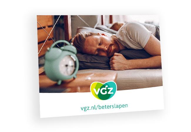 Ansichtkaart Beter slapen