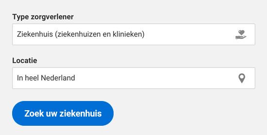 Bekijk alle gecontracteerde ziekenhuizen in Nederland