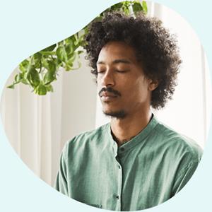 Afbeelding van een mediterende man