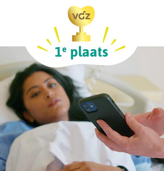Eerste plaats Zinnige Zorg Award 2021 ikHerstel app