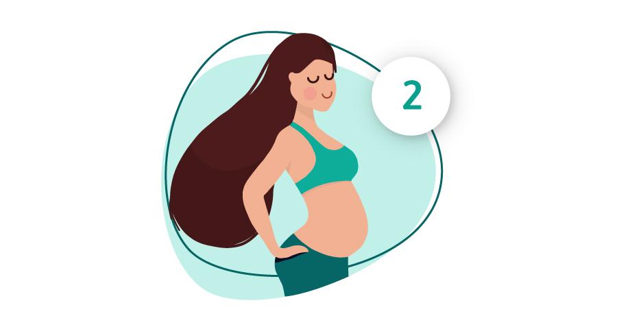 Visual van vrouw in het tweede trimester
