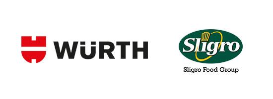 Logo's van Würth en van Sligro