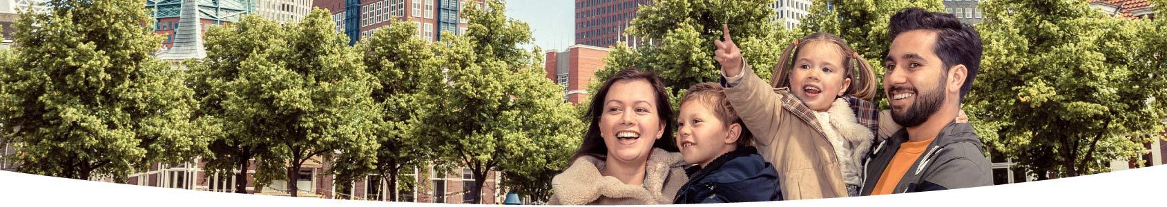 Familie in het centrum van Den Haag